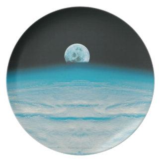 Arco de la tierra y de la luna plato de cena