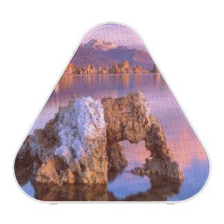Arco de la toba volcánica en el mono lago altavoz bluetooth