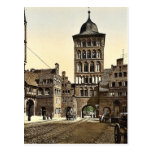 Arco de la torre, Lubeck, Alemania Photochrom raro Tarjeta Postal