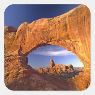 Arco de la torrecilla, arcos parque nacional, pegatina cuadrada