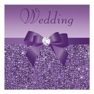 Arco de las lentejuelas y boda de diamante impreso comunicado personal