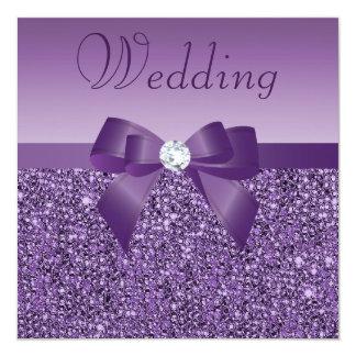 Arco de las lentejuelas y boda de diamante invitación 13,3 cm x 13,3cm