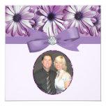Arco de las margaritas de la lavanda y boda de la invitación 13,3 cm x 13,3cm