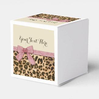Arco de los rosas bebés del estampado leopardo del cajas para regalos