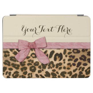 Arco de los rosas bebés del estampado leopardo del cubierta de iPad air