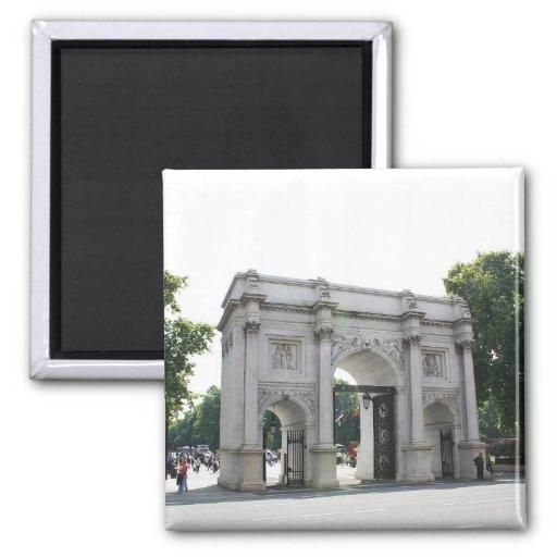 Arco de mármol, Londres Imán Cuadrado