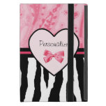Arco de moda y nombre rosados y negros del modelo iPad mini funda