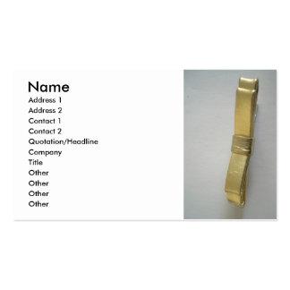 Arco de oro tarjetas de visita