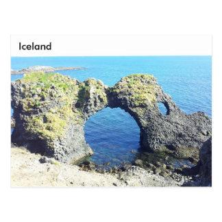 Arco de piedra de Gatklettur, Arnarstapi, Islandia Tarjetas Postales