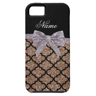 Arco de plata marroquí del brillo marrón conocido iPhone 5 Case-Mate fundas