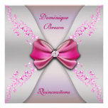 Arco de plata rosado elegante Quinceanera del diam