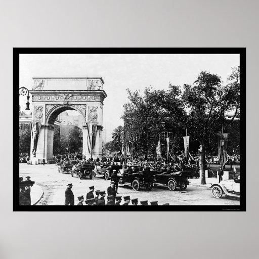 Arco de príncipe Washington en NYC 1917 Póster