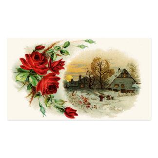 Arco de rosas con la ilustración del Victorian Tarjetas De Visita