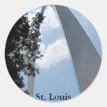 Arco de St. Louis Pegatina Redonda
