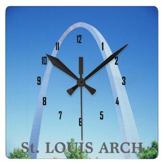 ARCO de St. Louis Reloj Cuadrado
