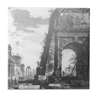 Arco de Tito by Giovanni Battista Piranesi Tile