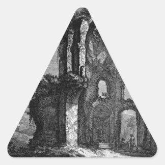 Arco de Trajan en Ancona Juan Battista Piranes Pegatina Triangular