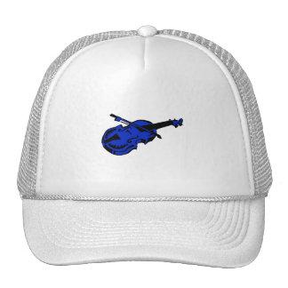 Arco de violín azul negro atado del instrumento im gorras de camionero