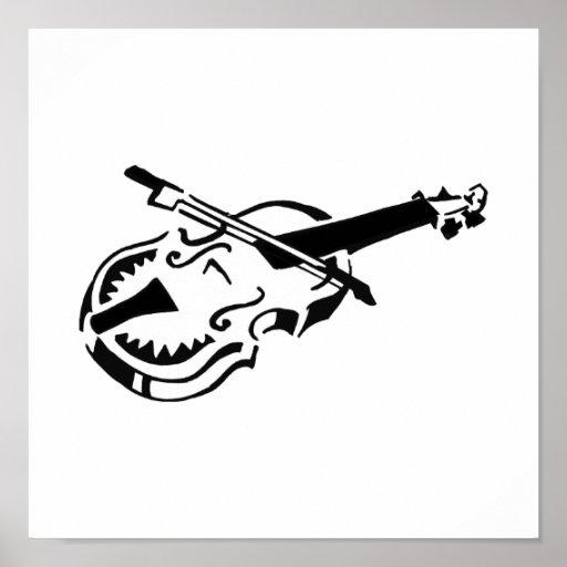 Arco de violín blanco atado del instrumento image. impresiones