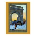 Arco de Washington en el crepúsculo del invierno Tarjetas Postales