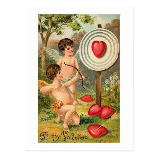 Arco del Cupid y corazón de la flecha Tarjetas Postales