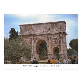 Arco del emperador Constantina, Roma Postal