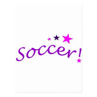 Arco del fútbol con las estrellas postal