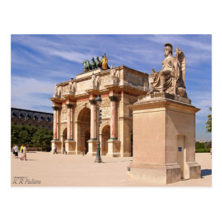 Arco del Louvre Tarjeta Postal