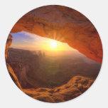 Arco del Mesa, parque nacional de Canyonlands Pegatina Redonda