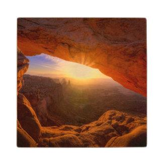 Arco del Mesa, parque nacional de Canyonlands Posavasos De Madera