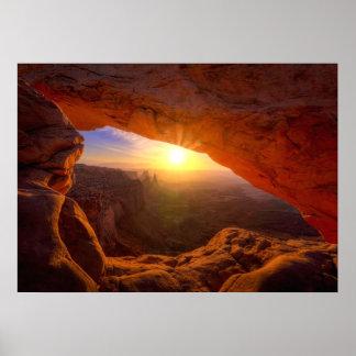Arco del Mesa, parque nacional de Canyonlands Póster