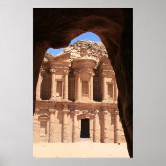 arco del monasterio del petra póster
