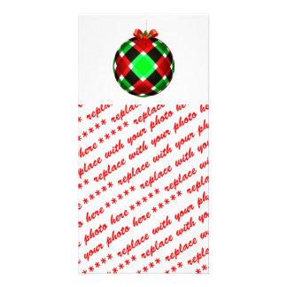 Arco del ornamento w Red del navidad de la tela es Tarjetas Fotográficas Personalizadas
