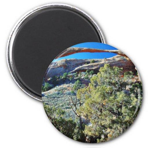 Arco del paisaje en el parque nacional de los arco imán redondo 5 cm