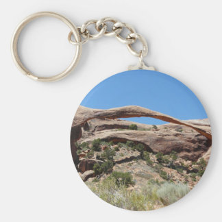 arco del paisaje llavero redondo tipo pin