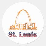Arco del Saint Louis Etiquetas Redondas