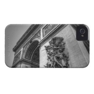 Arco del Triunfo b/w iPhone 4 Case-Mate Carcasa