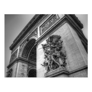 Arco del Triunfo b/w Tarjetas Postales