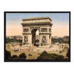 Arco del Triunfo, de l'Etoile, classi de París, Fr Tarjeta Postal