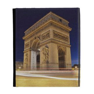 Arco del Triunfo de l'Étoile en tiro de la noche d