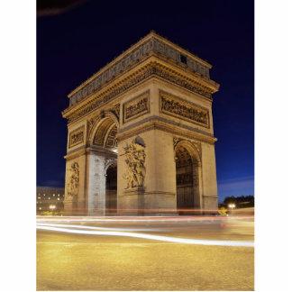 Arco del Triunfo en la noche Fotoescultura Vertical