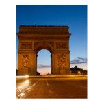 Arco del Triunfo en la noche Postal