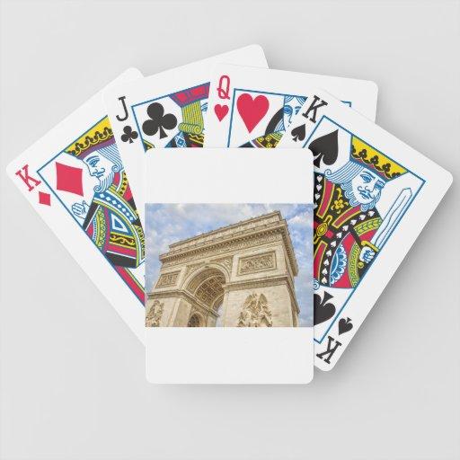 Arco del Triunfo en París Baraja Cartas De Poker