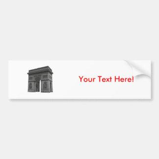 Arco del Triunfo: modelo 3D: Etiqueta De Parachoque