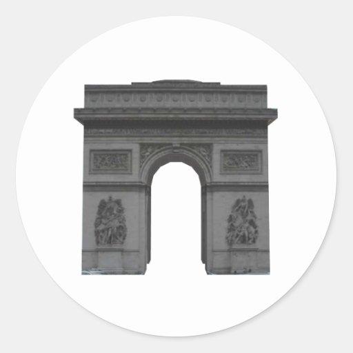 Arco del Triunfo: modelo 3D: Pegatina Redonda