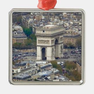 Arco del Triunfo París Francia Adorno Navideño Cuadrado De Metal