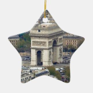 Arco del Triunfo París Francia Adorno Navideño De Cerámica En Forma De Estrella