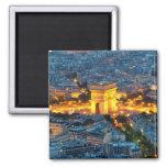 Arco del Triunfo, París, Francia Imán Cuadrado