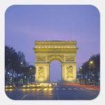 Arco del Triunfo, París, Francia, Pegatina Cuadradas