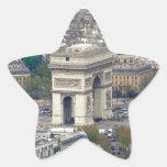 Arco del Triunfo París Francia Calcomanías Forma De Estrellaes Personalizadas